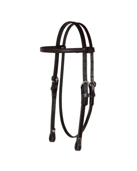 Arabian/Cob Classic Smooth Browband Headstall-3714