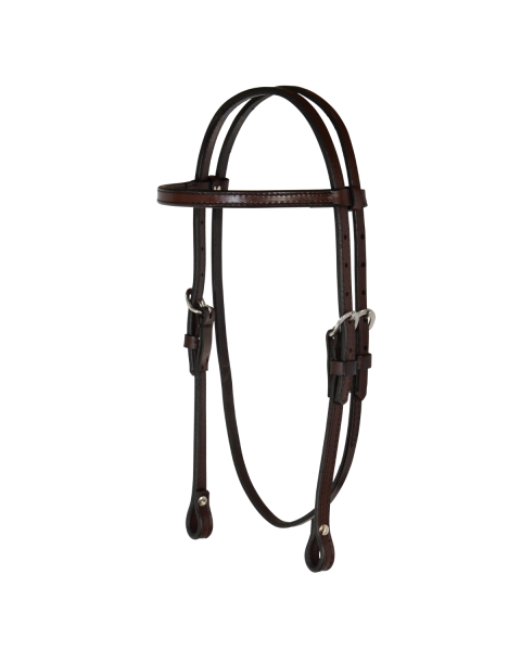 Arabian/Cob Classic Smooth Browband Headstall-3099