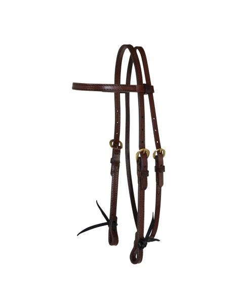 Classic Smooth Brass Browband Headstall