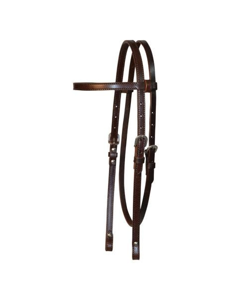Chicago Screw End Smooth Browband Headstall-3099