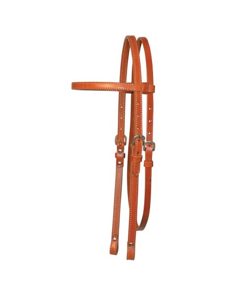 Chicago Screw End Smooth Browband Headstall-3102