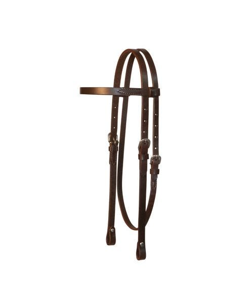 Lightweight Classic Smooth Browband Headstall-3099