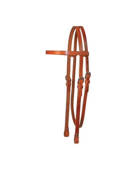 Lightweight Classic Smooth Browband Headstall-3102