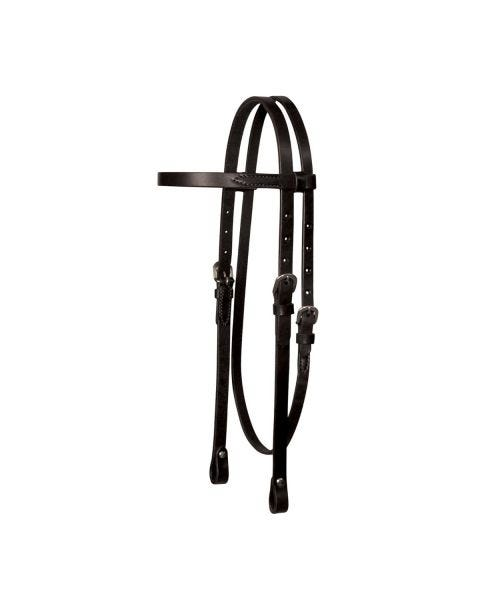 Lightweight Classic Smooth Browband Headstall-3114