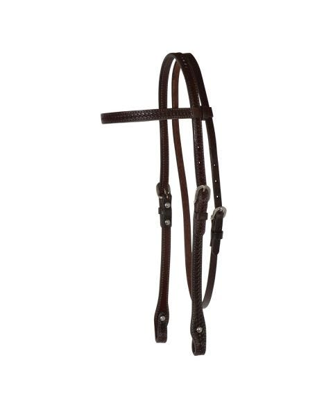 Basketweave Browband Headstall-3099