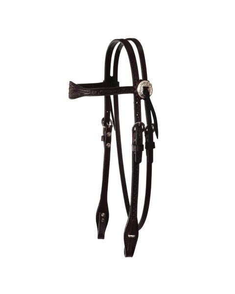 Julie Goodnight Leaf Browband Headstall-3099