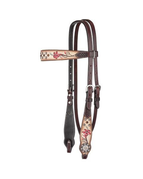 Fire Lily Browband Headstall
