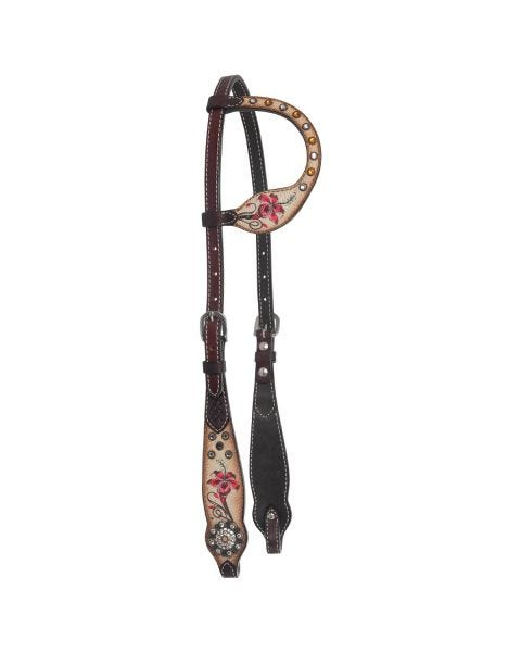 Fire Lily One Ear Headstall
