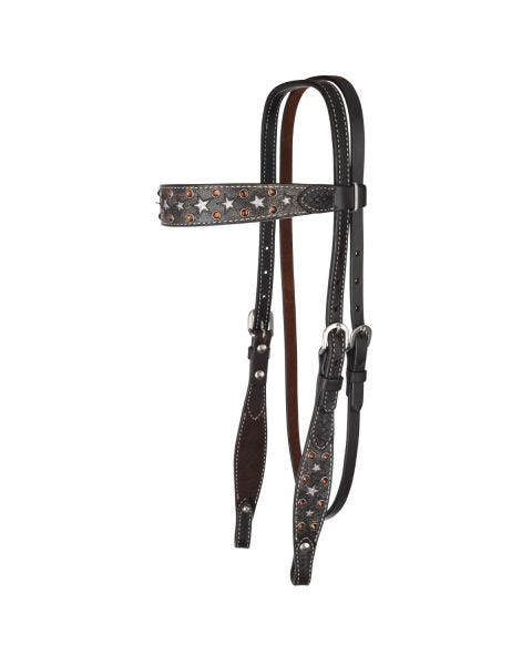 Silver Star Browband Headstall