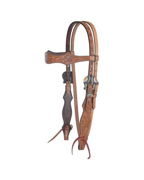 Copper Sunflower Browband Headstall