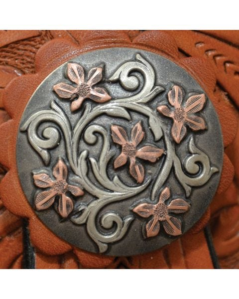 Copper Patina Vine Concho