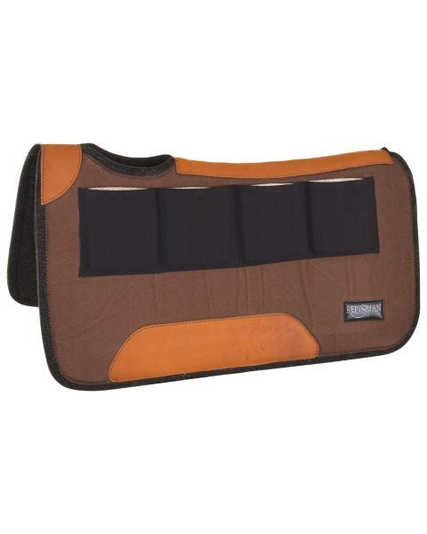Multi-Fit 4 Ranch Pro Square Contour Wool Pad - Brown