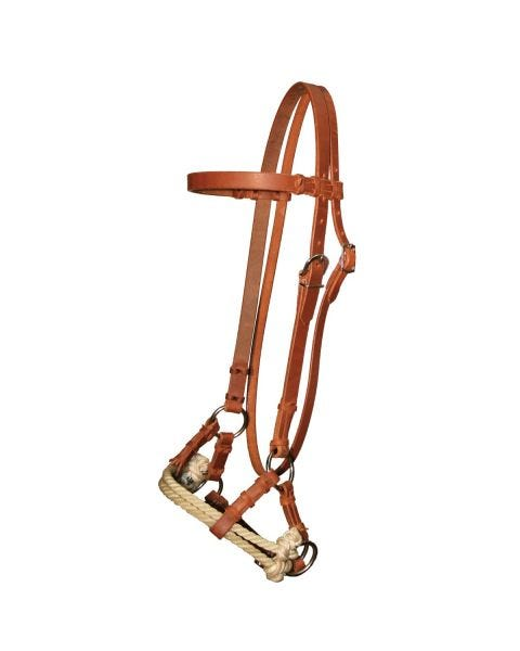 Side Pull Double Rope Nose Browband Headstall