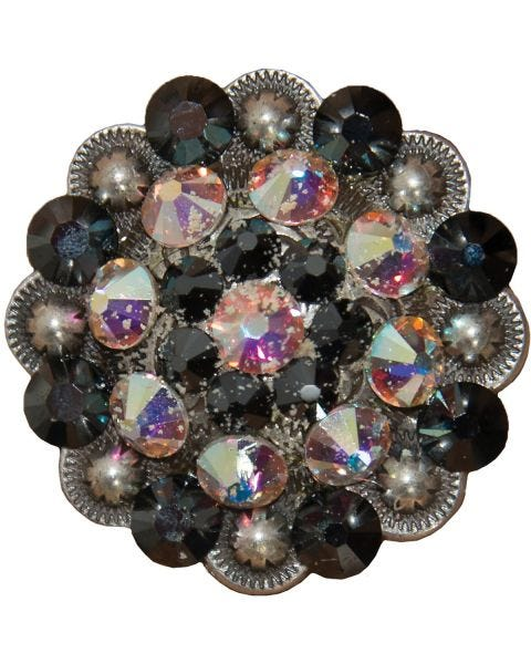 Black and AB Crystal Concho