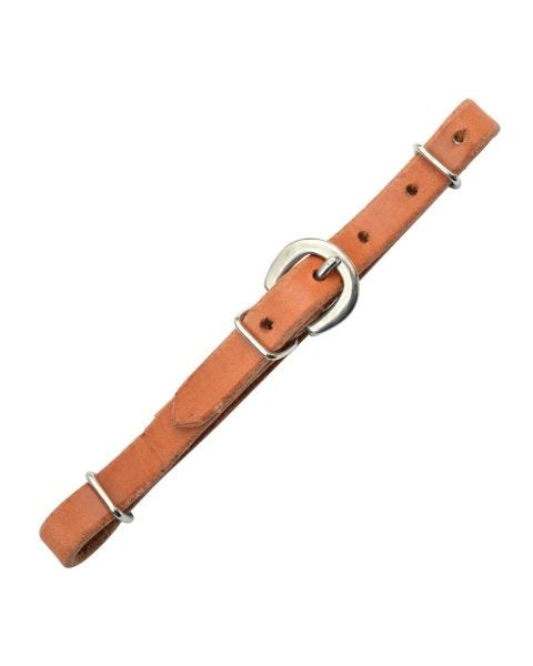 Simple Leather Curb Strap-3204