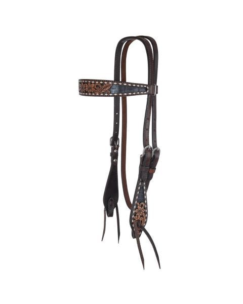 Charmayne James Black Gator Browband Headstall