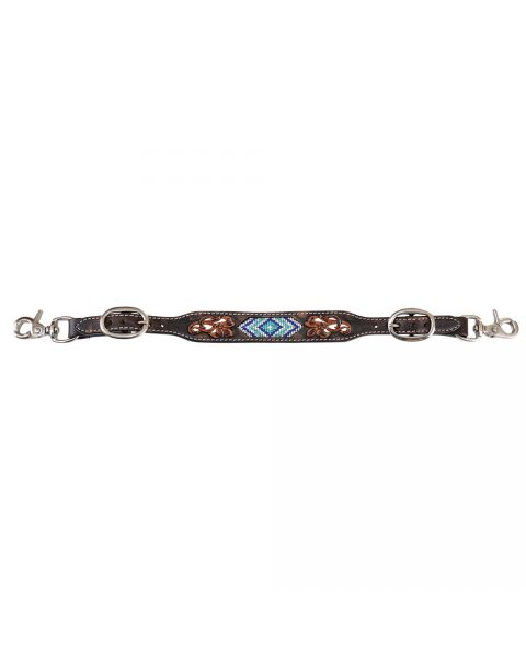 Blue Diamond Beaded Wither Strap