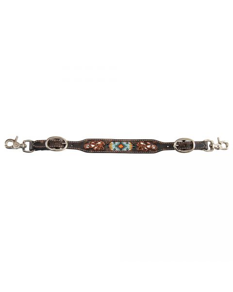 Distressed Beaded Tribal Wither Strap