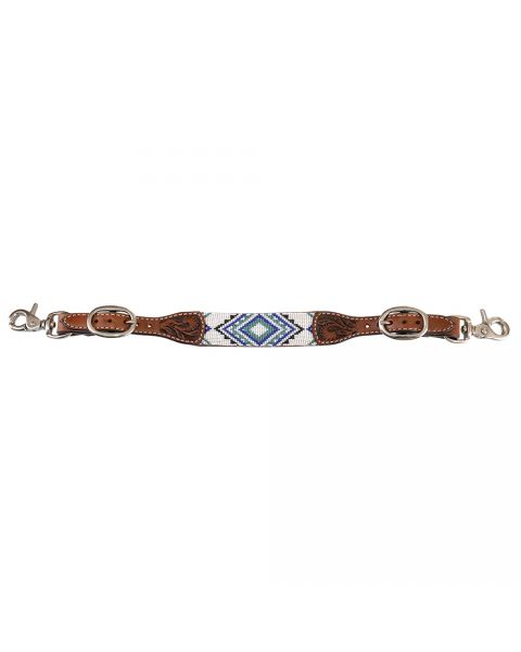 Infinity Flat Beaded Wither Strap