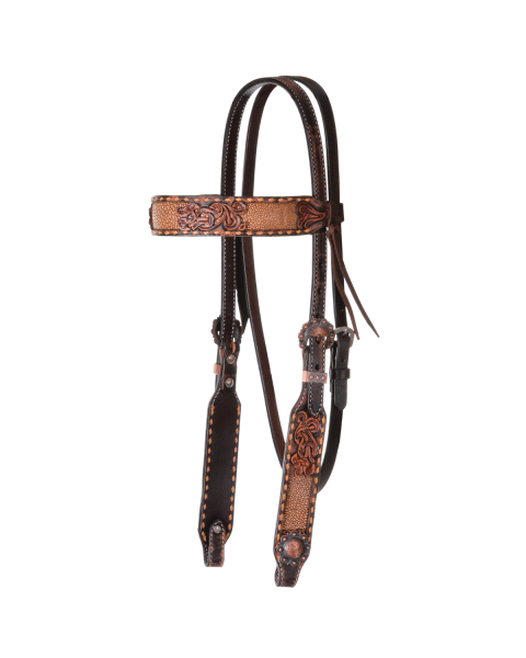 Exotic Inlay Buckstitch Browband Headstall