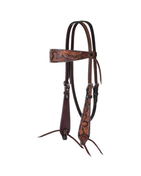 Basketweave Acorn Browband Headstall